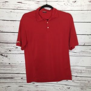 Nike golf red fit dry polo
